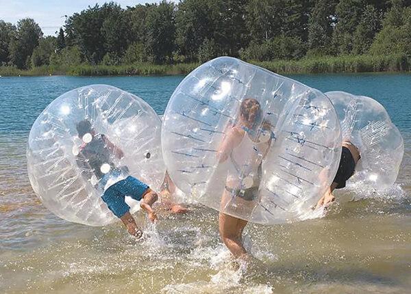 Bubble Soccer am Bernsteinsee