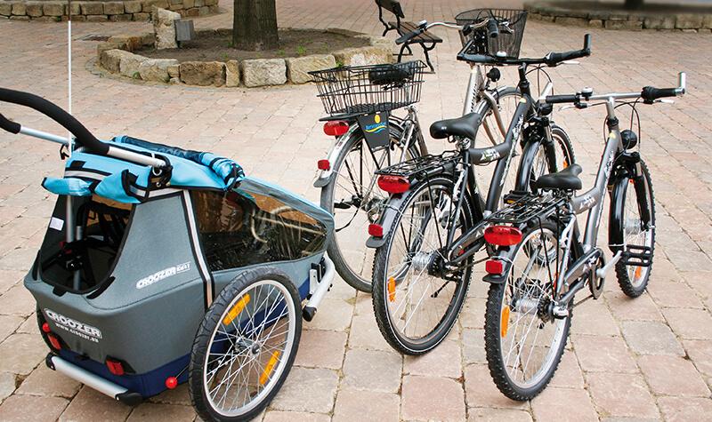 Fahrräder vom Fahrradverleih Bernsteinsee