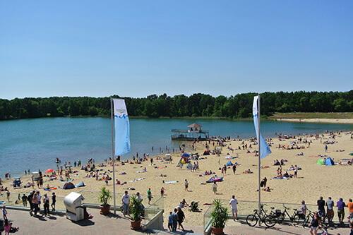 Sommertag am Bernsteinsee Strand