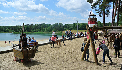 Abenteuerspielplatz am Bernsteinsee Strand