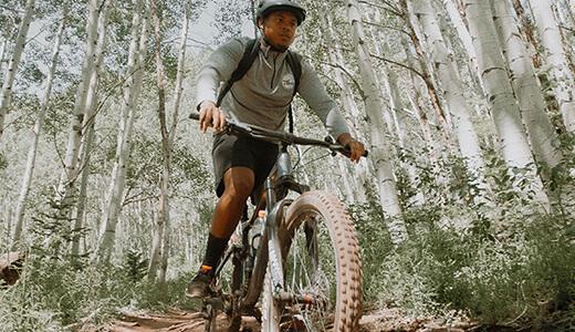 Mountainbiker am Bernsteinsee Stüde